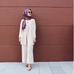 Takım Elbise - Pudra Pembe Takım Elibse Özel Tasarım - Ayşe Nur Yelken