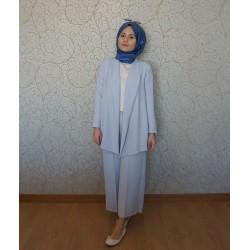 Buz Mavi Takım Elbise - Özel Tasarım