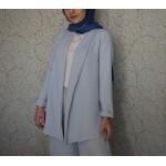 Buz Mavi Tesettür Takım Elbise