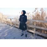 Siyah Trençkot  Özel Tasarım Trençkot - Ayşe Nur Yelken Tasarımları